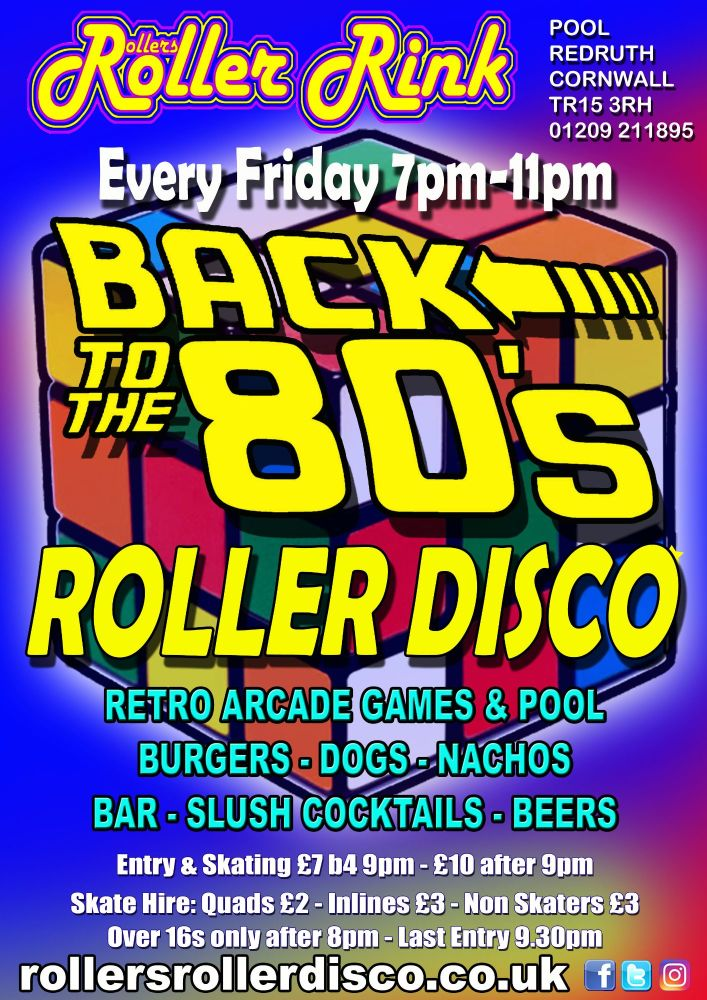 Friday Nights Back to the 80s Roller Disco Nov 2018
