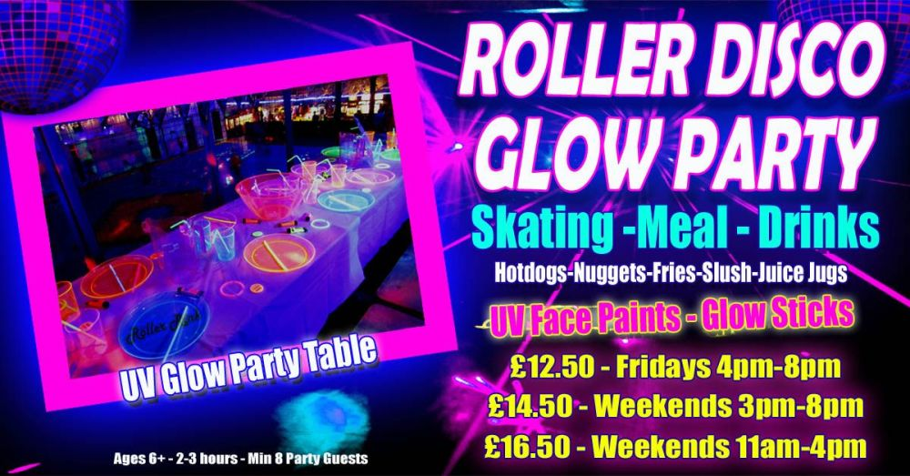 Roller Disco UV Glow Party Winter 2018