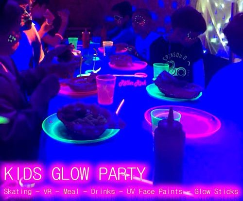 Glow Neon UV Roller Disco Skate VR Party Cornwall