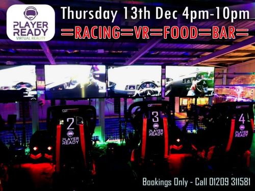 Racing at the Rink with Player Ready VR Cornwall Thursday 13th Dec