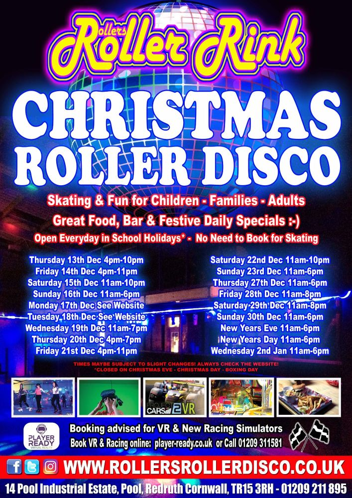 Christmas 2018 at Rollers Roller Rink Cornwall