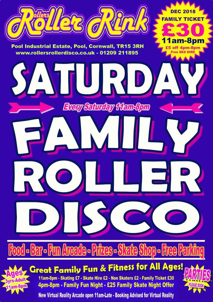 Saturday Roller Discos Dec 2018 Cornwall