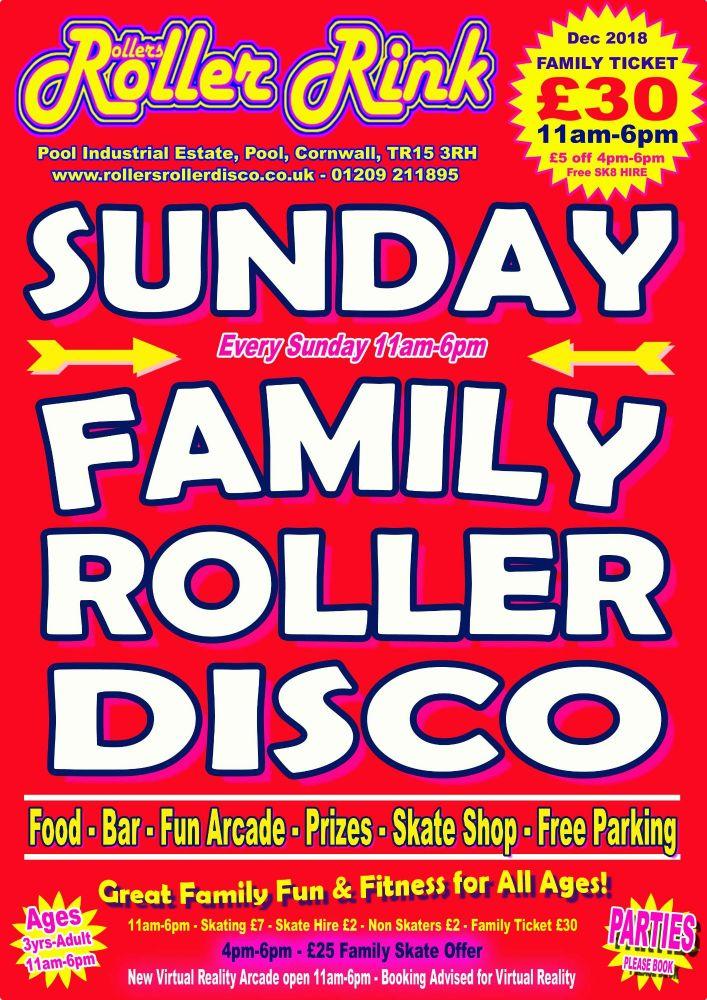 Sunday Roller Discos Dec 2018 Cornwall