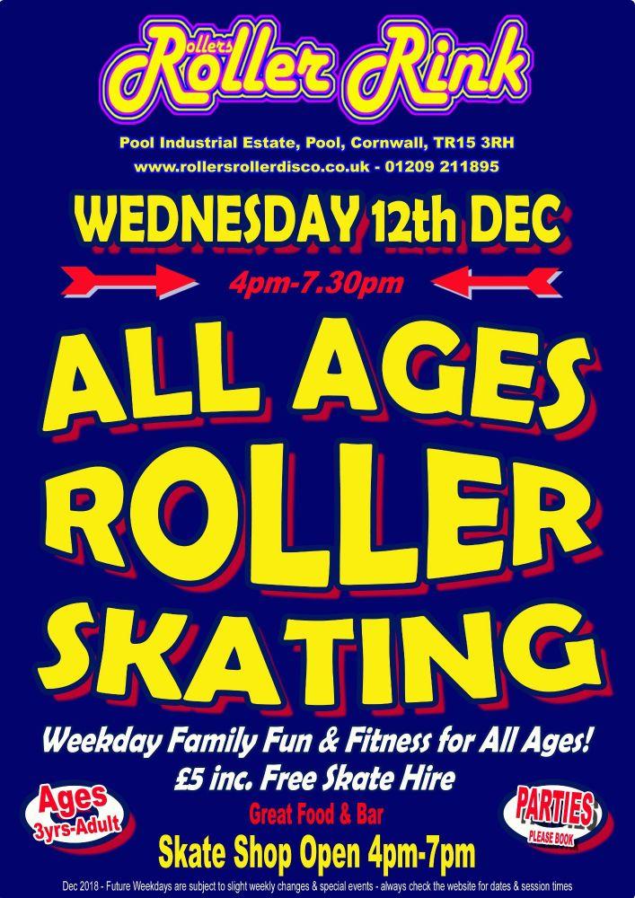 Wednesday 12th Dec Roller Disco