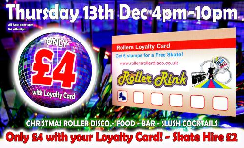 Christmas Roller Disco Loyalty Card holders deal