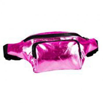 80s High Shine Pink Bum Bag