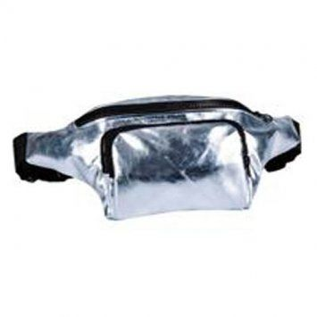 80s High Shine Silver Bum Bag