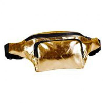 80s High Shine Gold Bum Bag