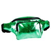 80s High Shine Green Bum Bag