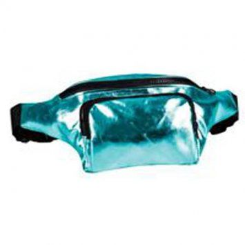 80s High Shine Turquoise Bum Bag
