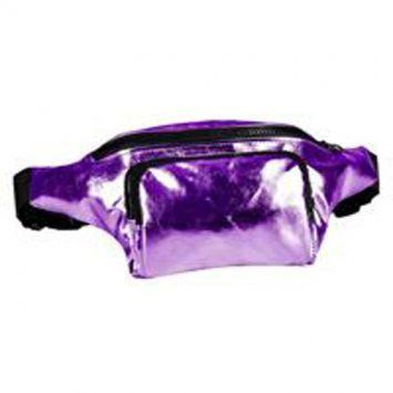 80s High Shine Purple Bum Bag