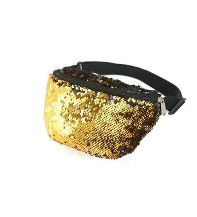80s Style Gold Sequin Bum Bag