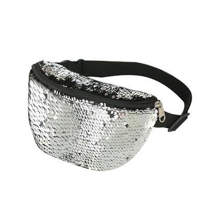 80s Style Rainbow Sequin Bum Bag