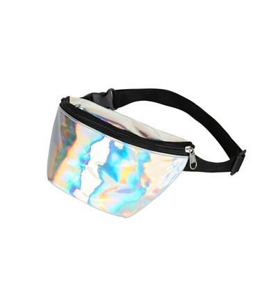80s Holographic Silver Bum Bag