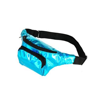 80s Holographic Turquoise Bum Bag