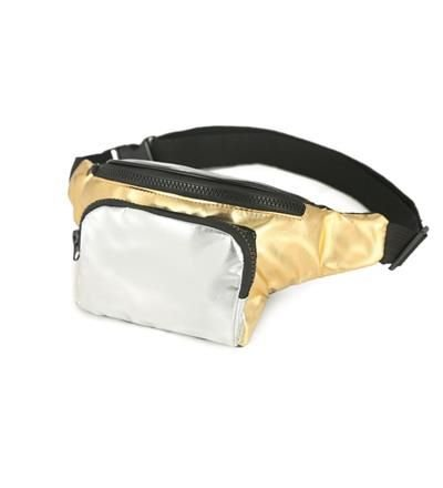 80s High Shine Gold and Silver Bum Bag