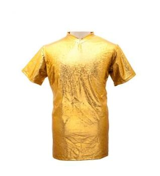 Men's High Shine Gold T Shirt - Large