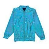 Holographic Foil Laser Effect Turquoise Jacket - Various Sizes
