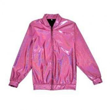 Holographic Foil Laser Effect Pink Jacket - Various Sizes