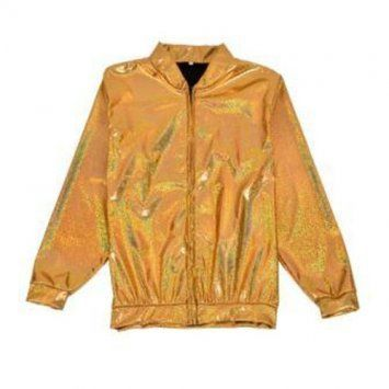 Holographic Foil Laser Effect Gold Jacket - Various Sizes
