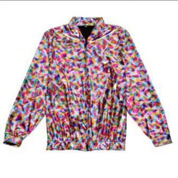 Holographic Foil Laser Effect Rainbow Jacket - Various Sizes