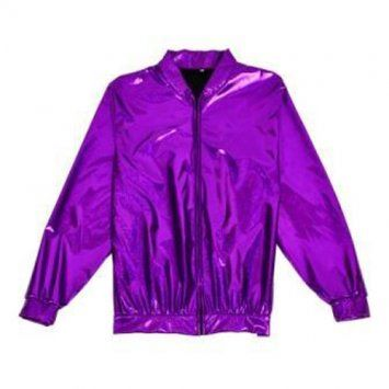 Holographic Foil Laser Effect Purple Jacket - Various Sizes