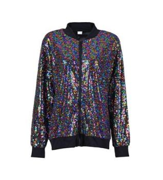 Sequin High Shine Rainbow Jacket - Various Sizes