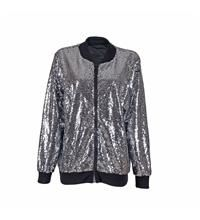 Sequin High Shine Silver Jacket - Various Sizes