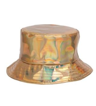 Holographic Festival Sun Hat - Gold