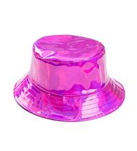 Holographic Festival Sun Hat - Pink