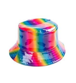 Holographic Festival Sun Hat - Rainbow