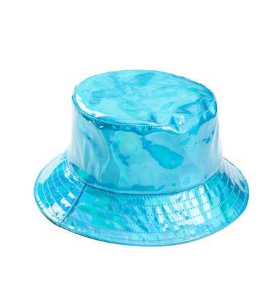 Holographic Festival Sun Hat - Turquoise