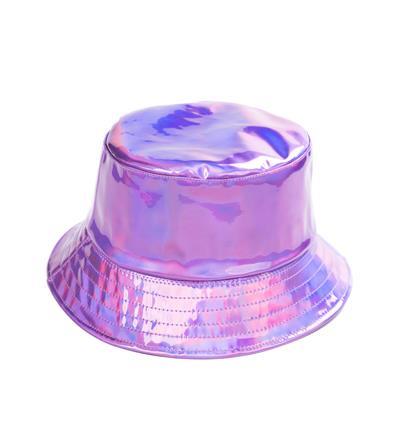 Holographic Festival Sun Hat - Purple