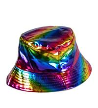 Holographic Festival Unicorn Sun Hat - Rainbow
