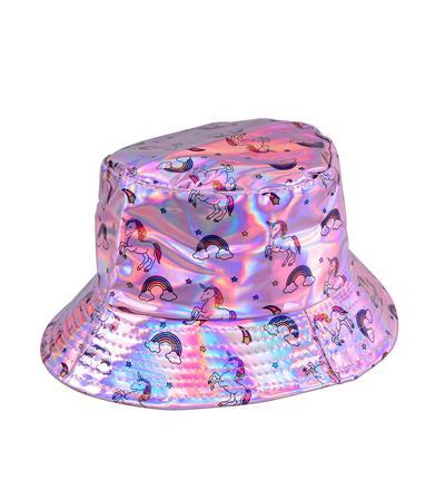 Holographic Festival Unicorn Sun Hat - Pink