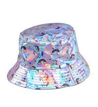Holographic Festival Unicorn Sun Hat - Silver