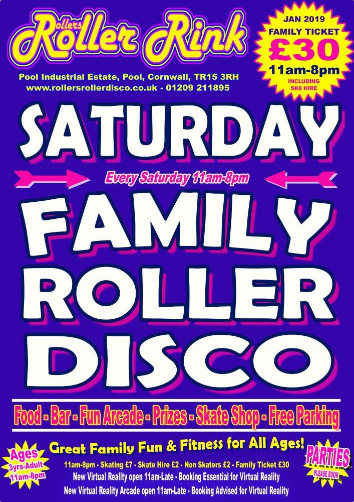 Saturday Roller Disco Jan 2019 Cornwall