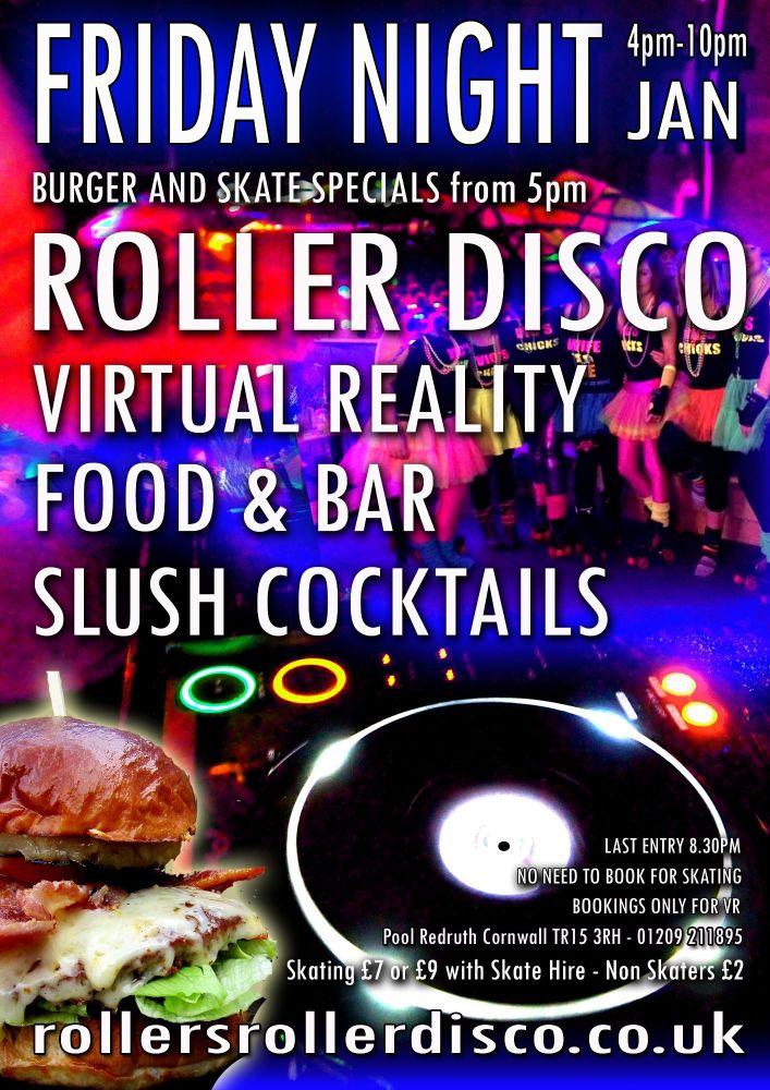 Friday Night Skate n Burgers 5pm-10pm Jan 2019