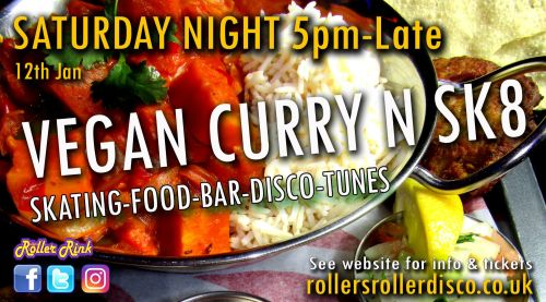 Vegan Curry N Skate Night Tickets