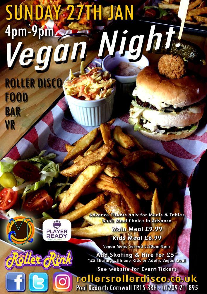 Vegan Night Sunday 27th Jan 2019