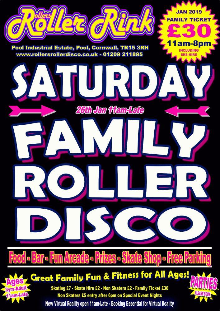 Saturday Roller Disco Jan 26th 2019