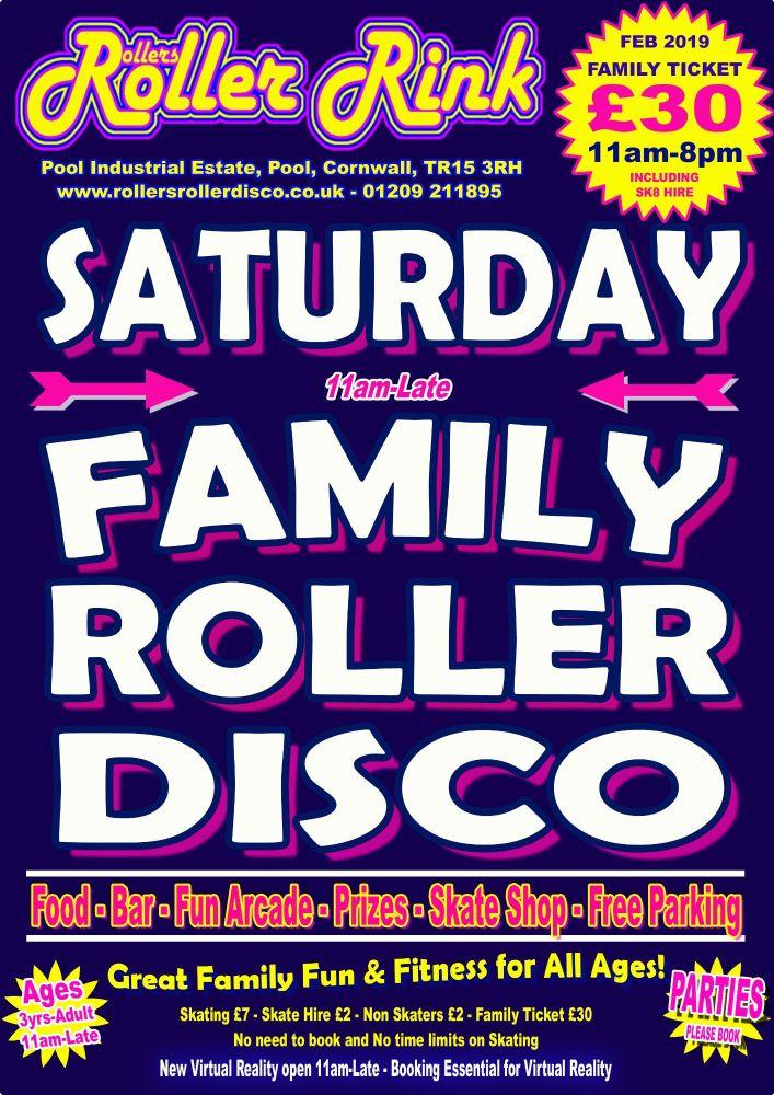 Saturday Roller Discos Feb 2019