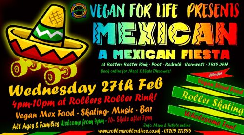 Mex Vegan Skate Night 27th Feb 2019