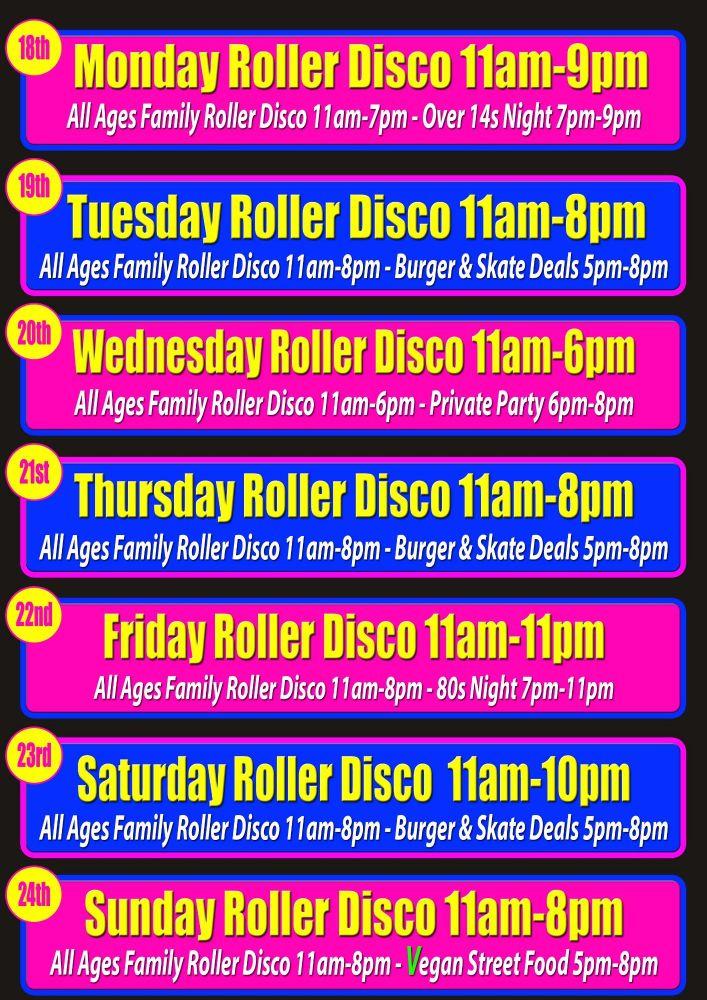 Half Term Roller Disco Cornwall Feb 2019
