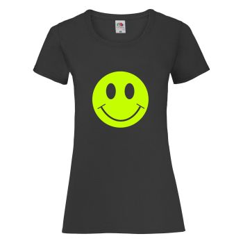 Smiley Face Womens Fitted T Shirt - Any Colour - Any Size