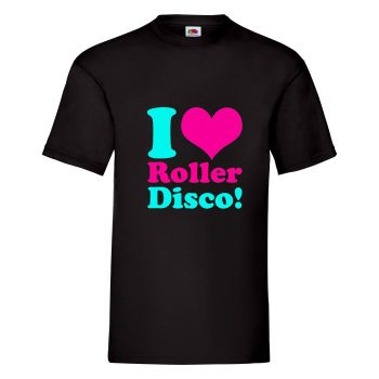 I Love Roller Disco Mens Unisex T Shirt - Any Colour - Any Size S-XXXL