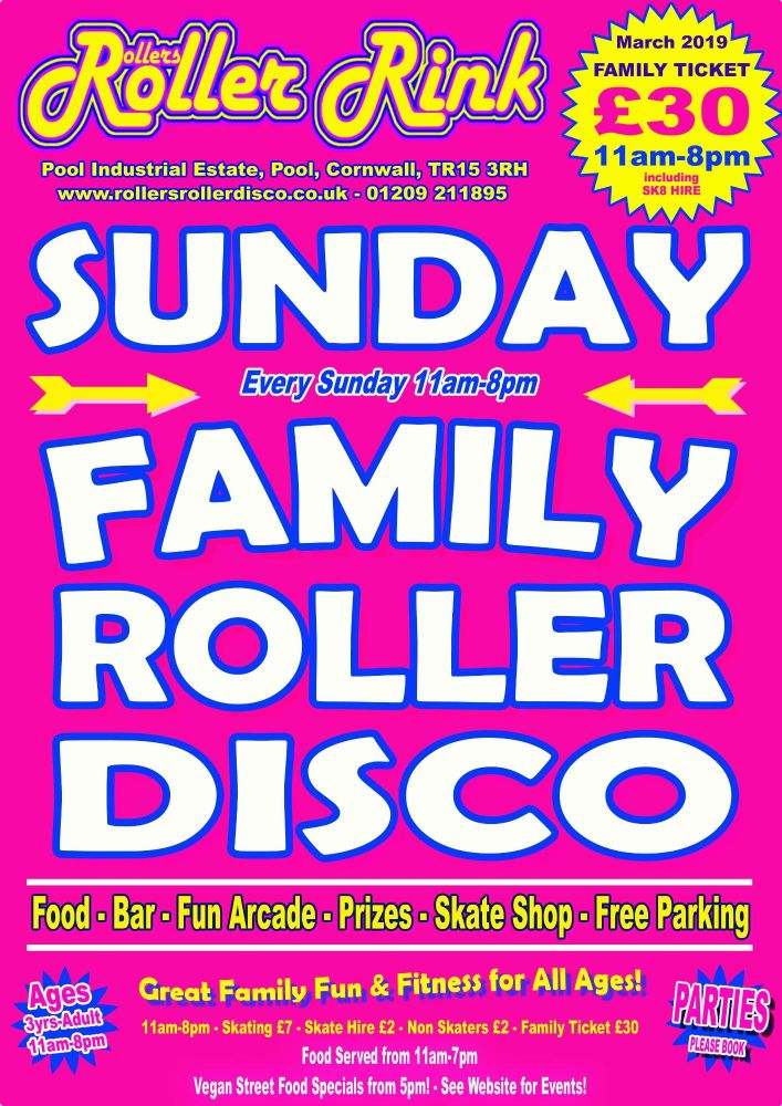 Sunday Roller Discos March 2019