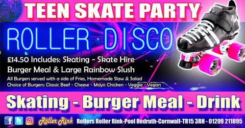 Teen Burger and Skate Party