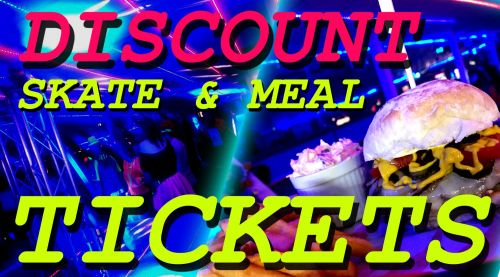 Skate and Meal Discount Tickets