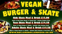 Vegan Burger and Skate Roller Disco Cornwall 2019